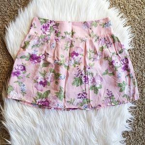 Charlotte Russe Pink Floral Miniskirt